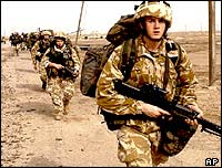 Royal Marines in southern Iraq