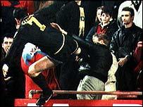 Eric Cantona's kung-fu kick at Selhurst Park, 1995