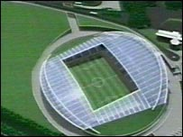 The proposed new stadium