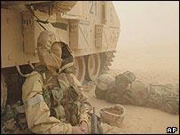 Sandstorm near Karbala