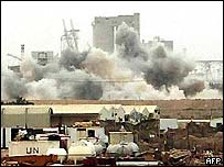 View of Umm Qasr under attack