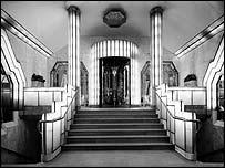 Foyer of the Strand Palace Hotel (1930s) designed by Oliver P Bernard, courtesy of English heritage