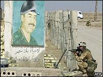 British soldier pauses