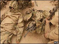 US troops in sandstorm