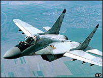 MIG29 fighter, the backbone of East European Air Forces