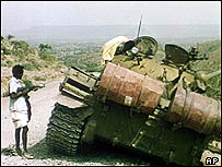 A T55 Tank in Ethiopia