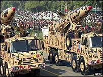 Indian Prithvi missiles in a Republic Day parade