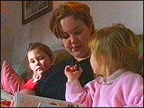 Kate Egglestone with her two children