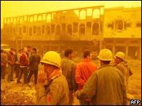 Baghdad bombing scene