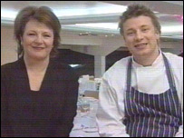 Delia Smith and Jamie Oliver