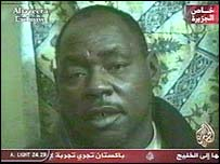 One of the allegedly British prisoners of war, shown on al-Jazeera television