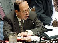 Iraqi ambassador to the UN Mohammed al-Douri