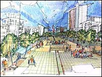 Artist's impression of the waterside scheme