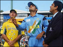 Ponting and Ganguly at the toss