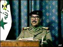 Saddam Hussein on state-run TV