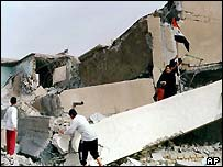 Destroyed school in Basra