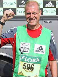 Paul Selby prepares for his 597th mile