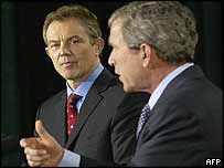 Blair and Bush at news conference