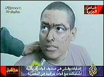 US POW being questioned on Iraqi TV