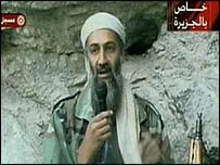 Bin Laden delivers a message via al-Jazeera