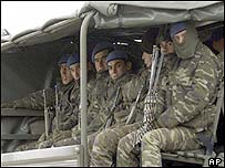 Turkish troops on the move during the Iraq war