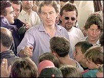 Tony Blair in Kosovo
