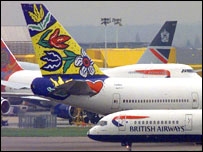 BA planes at Heathrow