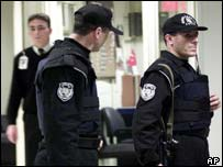 Policemen at Istanbul's Ataturk airport