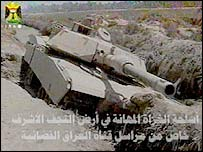 'Enemy' tank shown on Iraqi television