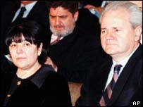 Mirjana Markovic and Slobodan Milosevic