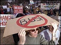 Anti-war protester in Boston