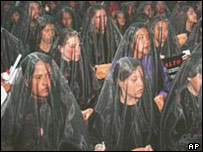 A march by more than 1,000 women in November 2002