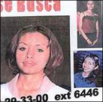 A poster with pictures of missing women