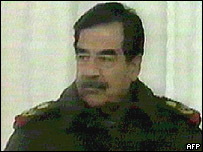 Image of Saddam Hussein shown on Iraqi TV on 28 March