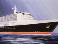 Artists impression of the Queen Mary 2