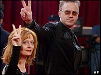 Actors Susan Sarandon and Tim Robbins