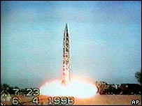 Launch of nuclear missile at Khan Research Laboratories