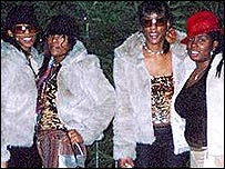 Charlene Ellis (second left) and Letisha Shakespeare (second right)