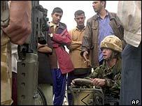The British 42 Commando psy-ops team in Umm Qasr