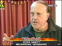 Peter Arnett on Iraqi TV