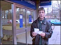 Paul Matthews at job centre