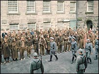 Scene from the BBC's 1970s drama, Colditz.