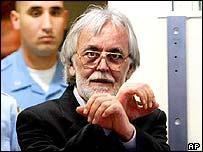 Mladen Naletilic shortly before his sentencing at The Hague