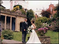 Wedding at Portmeirion (picture courtesy of Nigel Hughes)