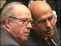 Hans Blix and Mohamed ElBaradei