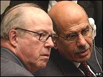 Hans Blix and Mohamed ElBaradei