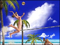 Dead or Alive: Xtreme Beach Volleyball. The game features voluptuous women ...