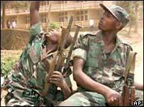 Rwandan soldiers in DR Congo