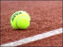 The clay at Roland Garros