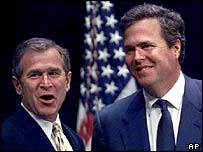 George Bush with his brother Jeb